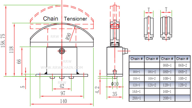 Chain Tensioners for Roller Chains - RRW Chain