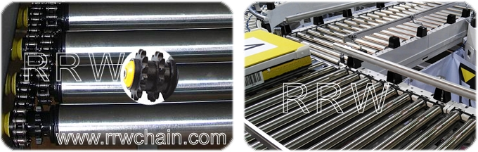 Roller Conveyors Material Handling Drive Chain Sprocket Accumulating Rollers