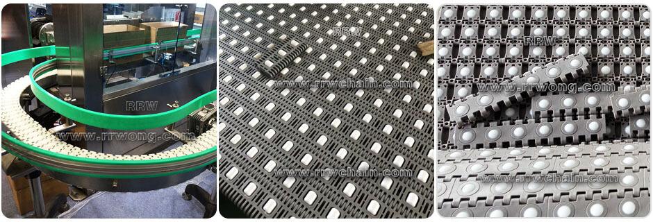 Modular Belt Conveyor Roller Accumulation Transverse Angled Ball Sorter Aligners ARB LBP RTB